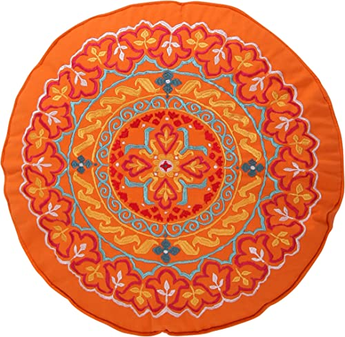 Levtex Mackenzie Round Orange Pillow
