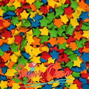Bright Star Sprinkles - 10 ounces assorted Confetti Quins- Kosher Certified by Sugar Deco