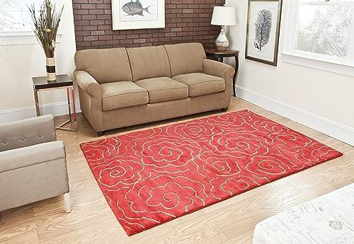 Safavieh Soho Collection SOH812A Handmade Red Premium Wool Area Rug 6 x 9