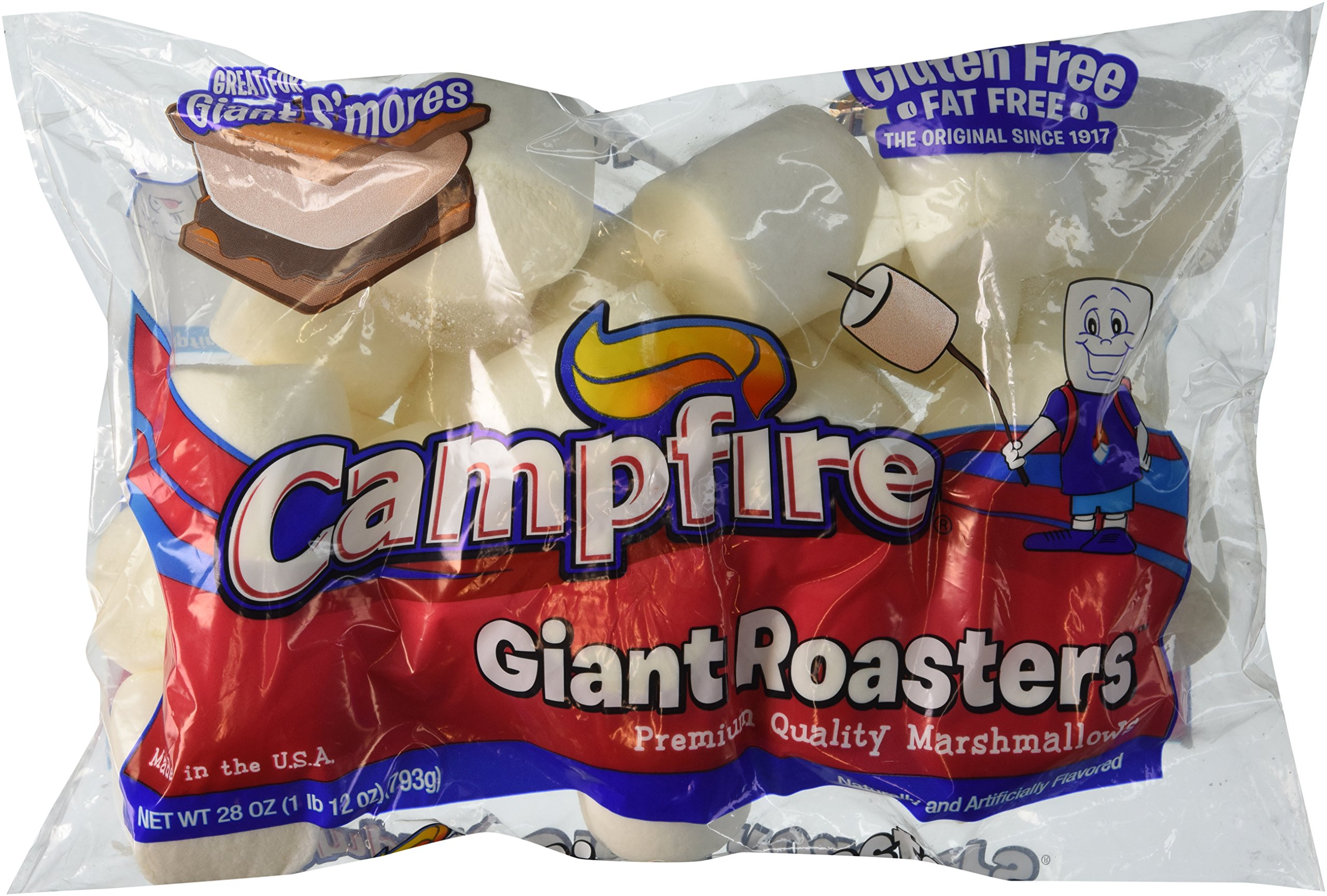 Campfire Giant Roasters Marshmallows Huge 28 Ounce Bag Pack of 3 by Campfire Marshmallows