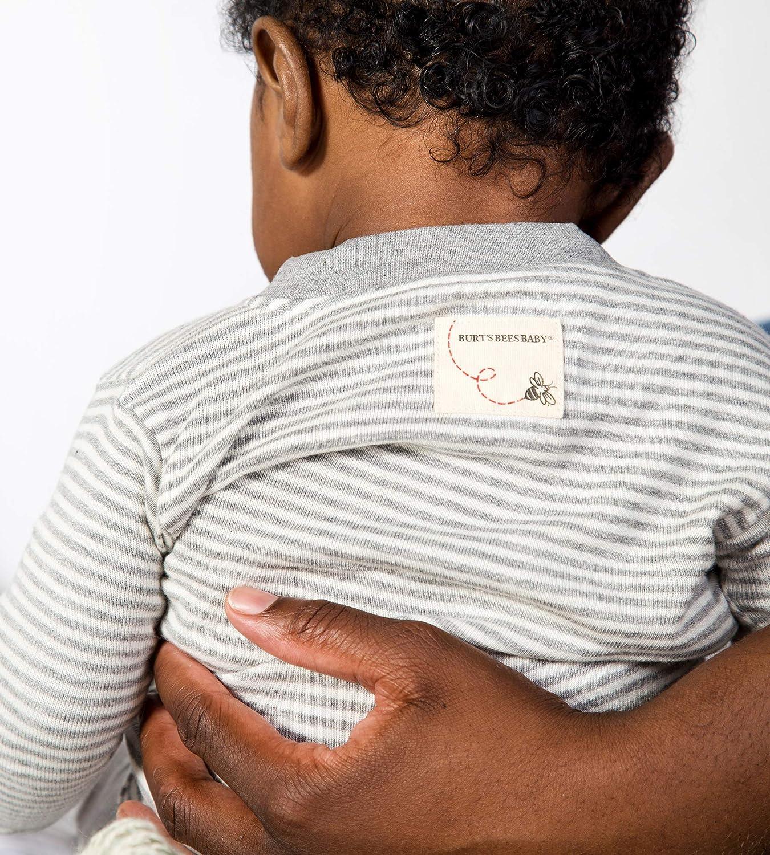 Burts Bees Baby 100/% Organic Cotton Unisex Baby Sleeper Pajamas Zip Front Non-Slip Footed Sleeper PJs