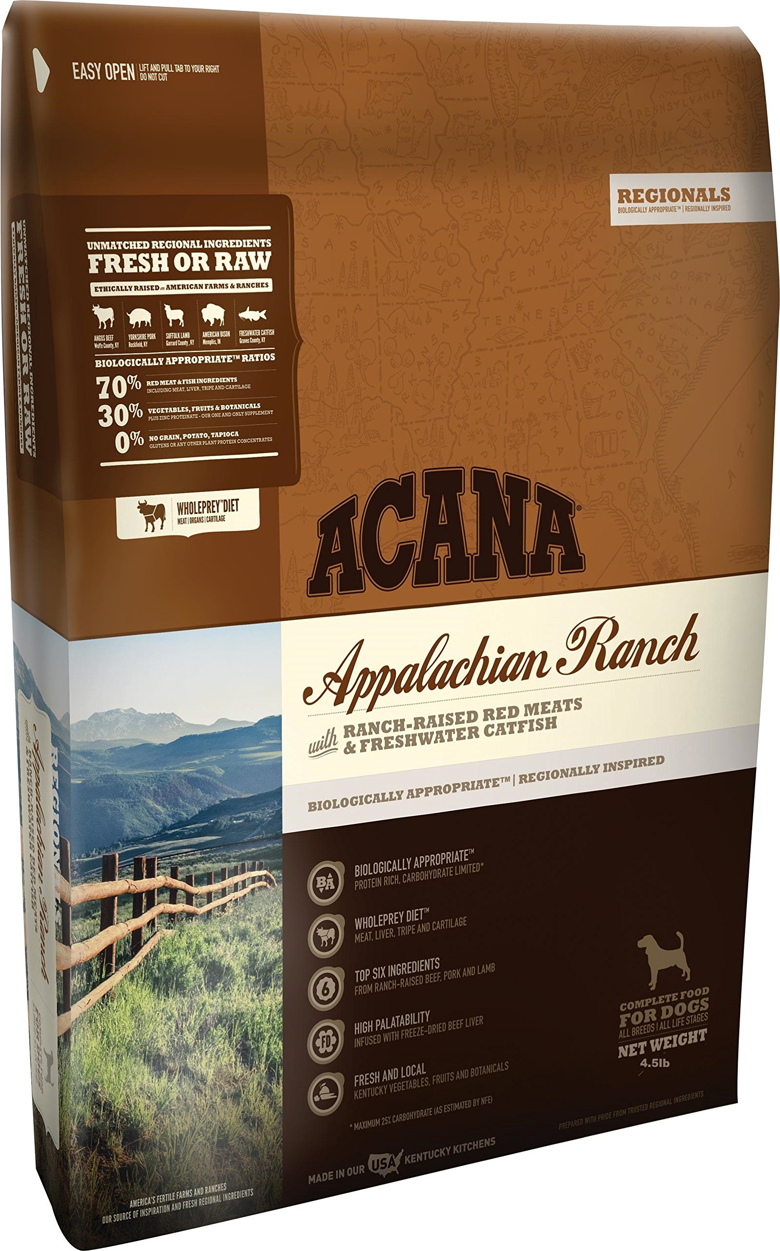 ACANA Regionals Appalachian Ranch for Dogs, 4.5 Pound Bag