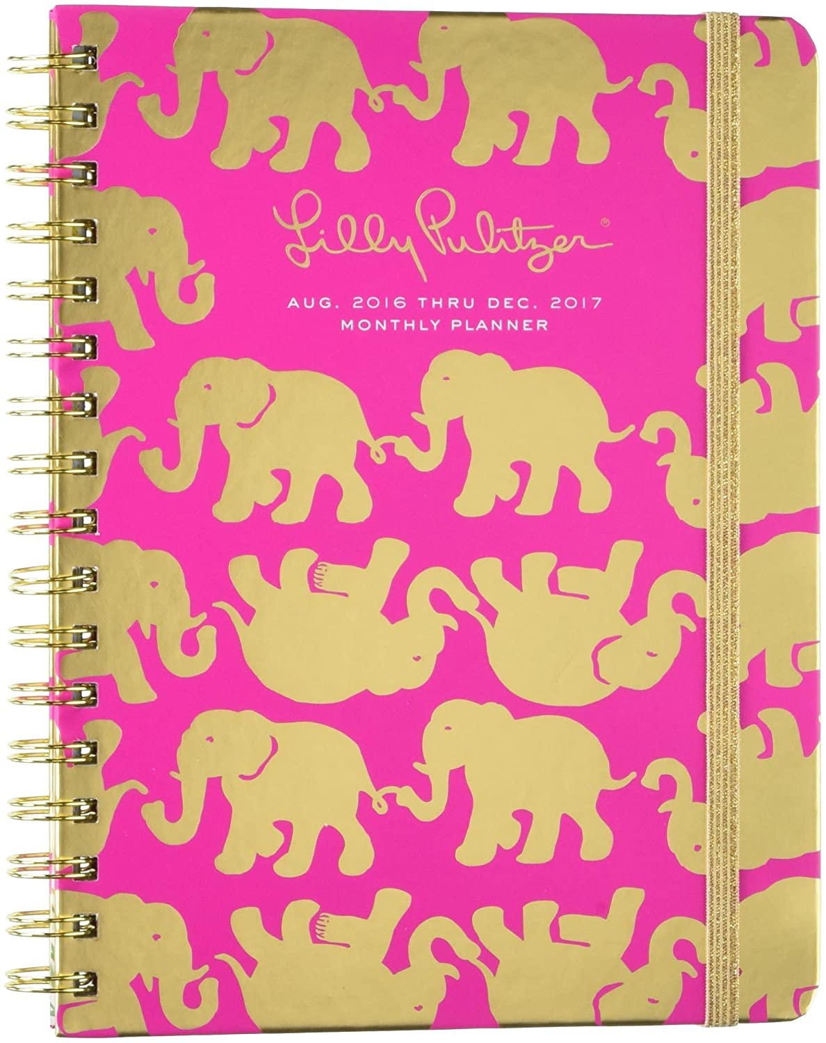 2016-2017 17 Month Planner - Tusk in Sun (Pink)