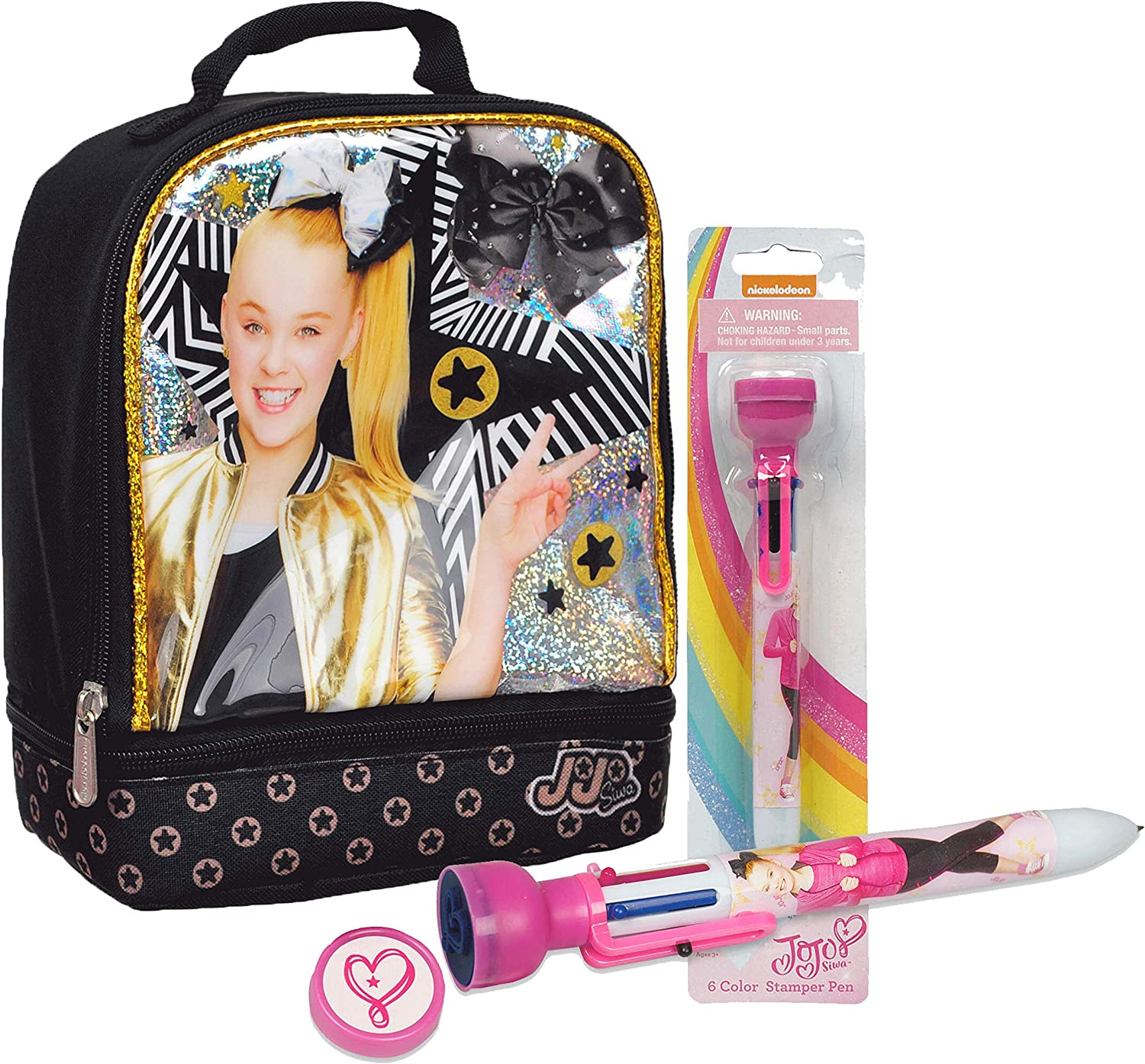 Nickelodeon JoJo Siwa Girls/' Insulated Lunch Bag with Strap