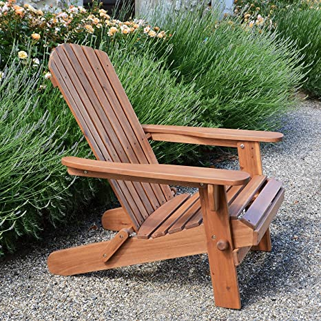 Amazon.com : Plant Theatre Adirondack Folding Hardwood Chair : Garden U0026  Outdoor
