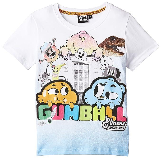 fcca7f63 Gumball T-Shirt, Camiseta para Niños, Blanco 5: Amazon.es: Ropa y accesorios