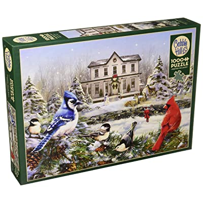 Cobblehill 80119 1000 pc Country House Birds Puzzle, Various: Toys & Games