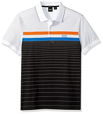 08360926 Amazon.com: Hugo Boss Men's Paddy 3 Sporty Multicolor Stripe Polo: Boss  Hugo Boss: Clothing
