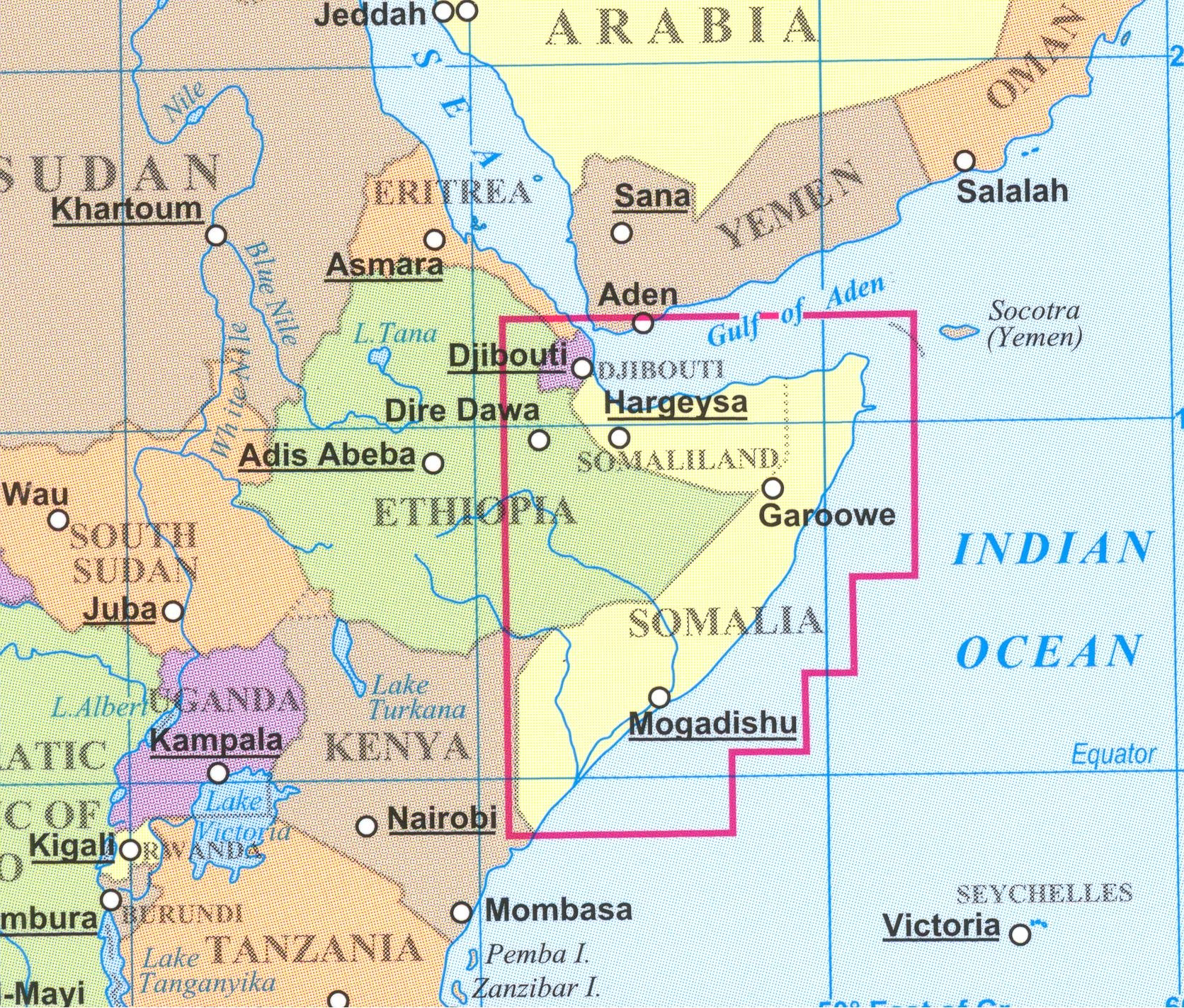 Somalia 1 1 750 000 Travel Map With Mogadishu Plan G Bassa
