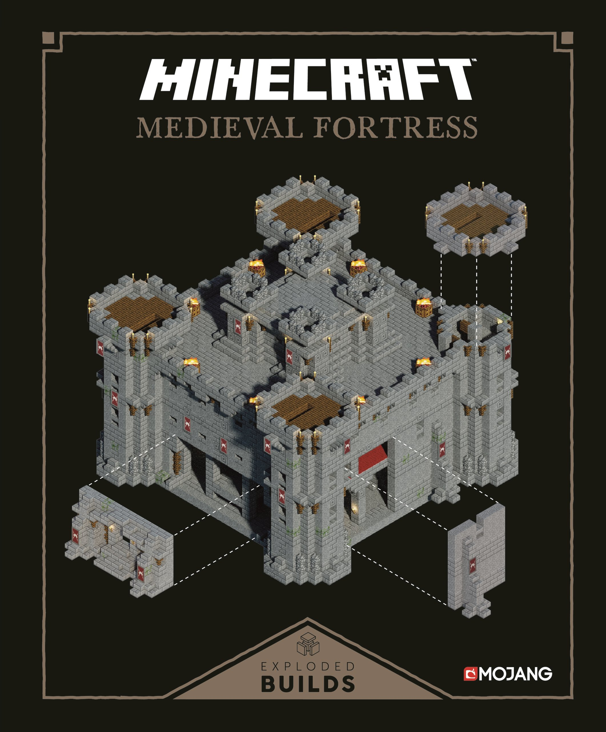 Minecraft Exploded Builds Medieval Fortress Mojang Ab 9781405284172 Amazon Books