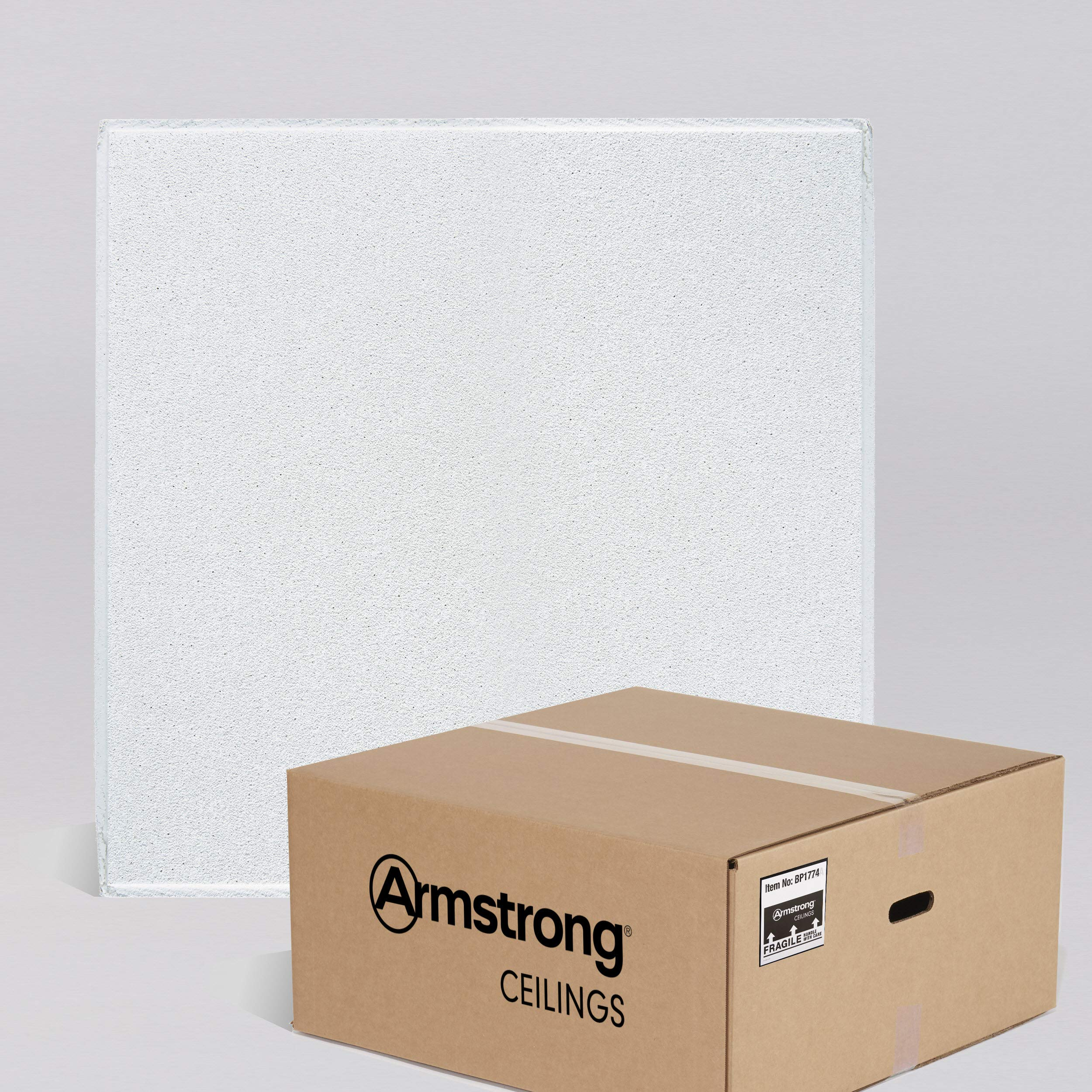 Armstrong Ceiling Tiles; 2x2 Ceiling Tiles - HUMIGUARD Plus Acoustic Ceilings for Suspended Ceiling Grid; Drop Ceiling Tiles Direct from the Manufacturer; DUNE Item 1774 - 16pcs White Tegular by Armstrong