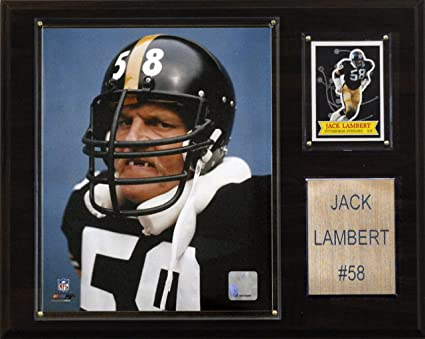 3b5834acff8 Amazon.com   NFL Jack Lambert Pittsburgh Steelers Player Plaque ...