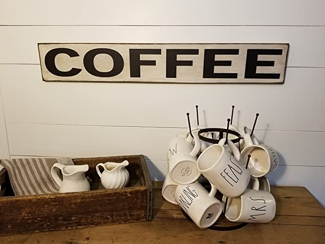 Coffee Sign   Kitchen Sign   Farmhouse Decor   Coffee   Rustic Wooden Sign    Primitive