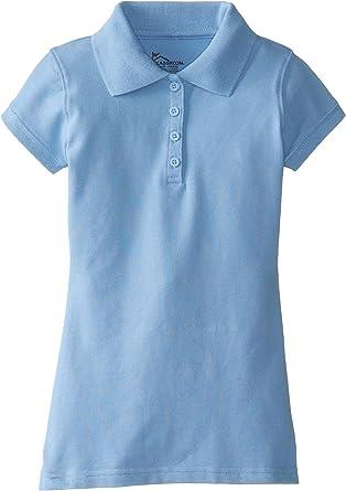 Classroom School Uniforms Little Girls Stretch Pique Polo