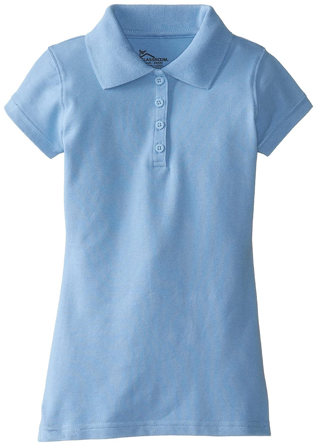 Amazon Classroom Girls Uniform Stretch Pique Polo School
