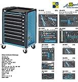 Hazet Werkstattwagen Assistent mit Sortiment, Anzahl Werkzeuge: 296, 1040 x 817 x 502 mm, 1 Stück, 179-8-2700-163/296