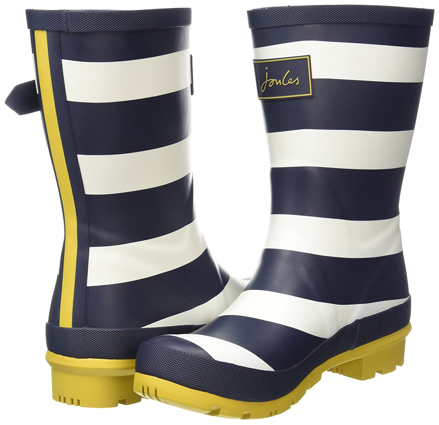 Joules Women's Molly Welly 7|Navy Rain Boot B07CXQ6JQT Women's 7|Navy Welly Wide Stripe Rubber 84e390