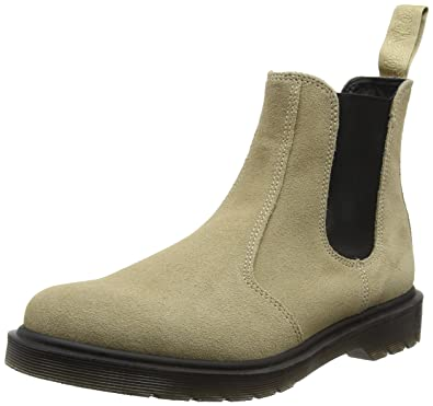 2d7bc56b69c Dr. Martens Men's 2976 Suede Chelsea Boots, Off-White-Elfenbein ...