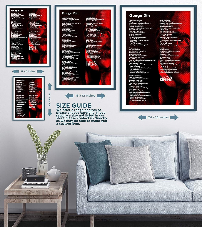 Rudyard Kipling Poema Print - Gunga Din - Art Foto Póster ...