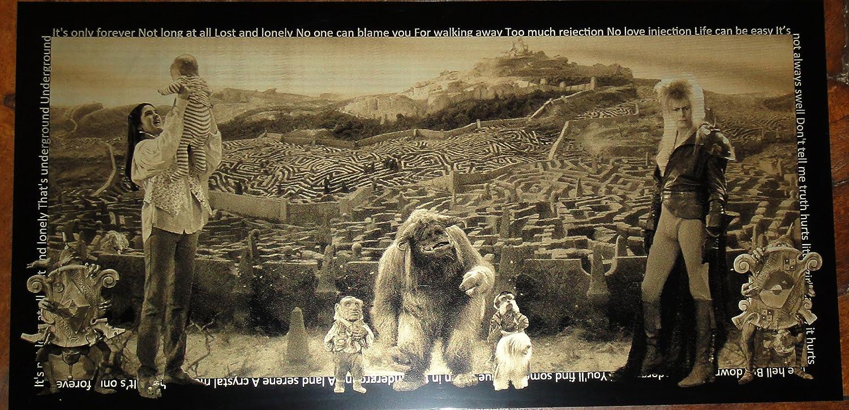 Geekograph Labyrinth David Bowie Limited Edition Metal Art
