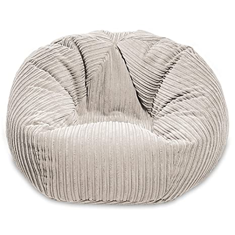 Strange Gilda Giant Adult Beanbag Classic Soft Comfy Gaming Jumbo Corduroy Bean Chair Filled With Virgin Beans Beautiful Home Accessory Moulds To Shape Machost Co Dining Chair Design Ideas Machostcouk