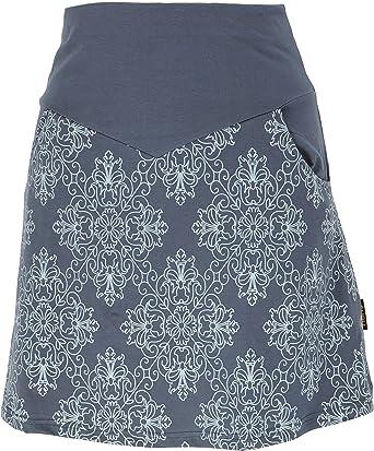 GURU-SHOP, Mini Falda, Falda Boho Plate Skirt Organic, Algodón, Faldas Cortas: Amazon.es: Ropa y accesorios