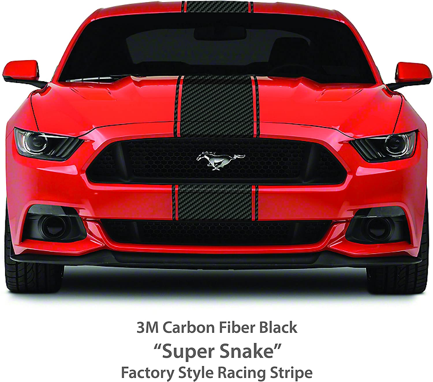 """Ford Mustang 2 color 4/"""" Rally stripes Stripe Graphics GT500 Shelby Cobra 05-18"""