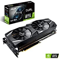 ASUS GeForce RTX 2070 Advanced Overclocked 8G GDDR6 Dual-Fan Edition VR Ready HDMI DP USB Type-C Graphics Card (DUAL-RTX2070-A8G)