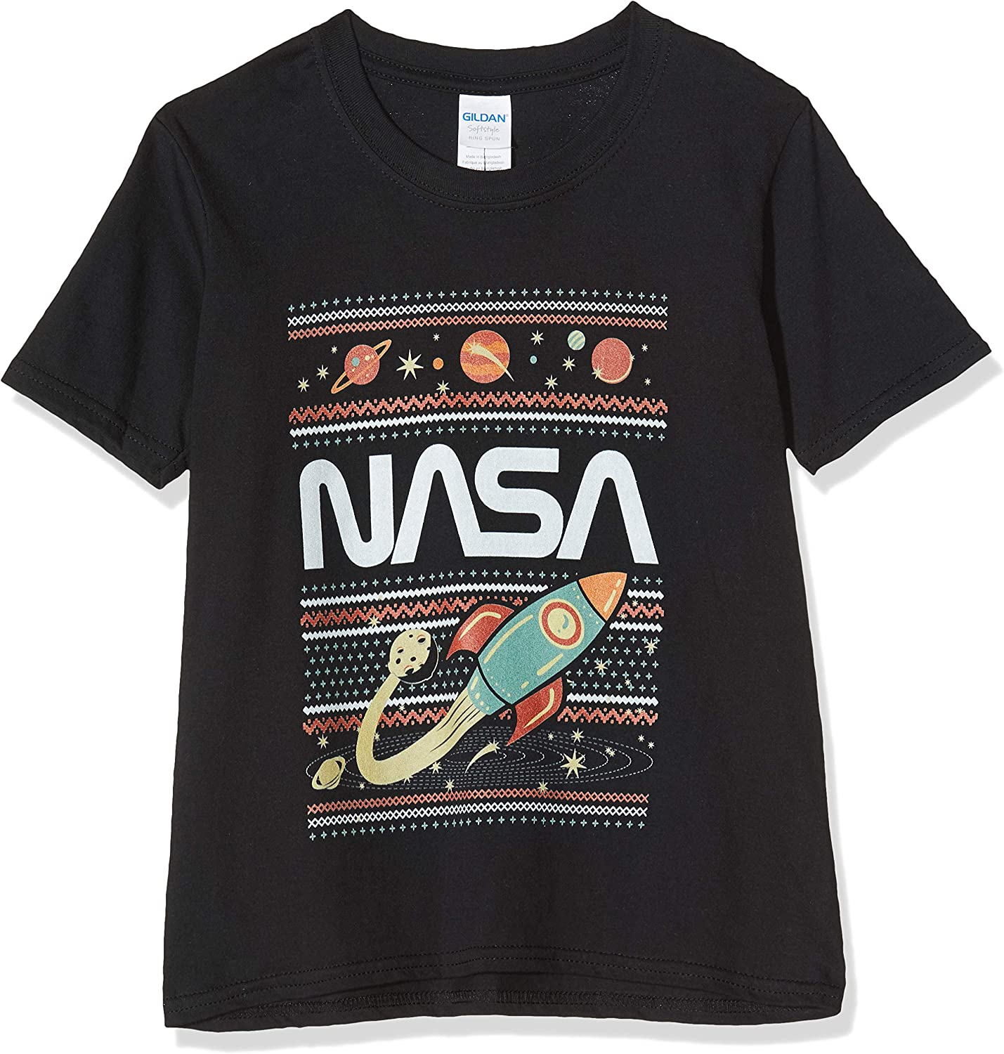 Brands In Limited NASA Fair Isle T-Shirt Fille
