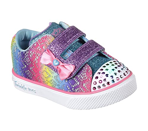 Skechers Twinkle Breeze 2.0-Colour Croc, Zapatillas Bebé-para Niñas: Amazon.es: Zapatos y complementos