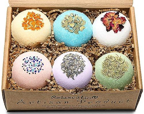 Handmade Organic Bath Bombs Gift Set For Women
