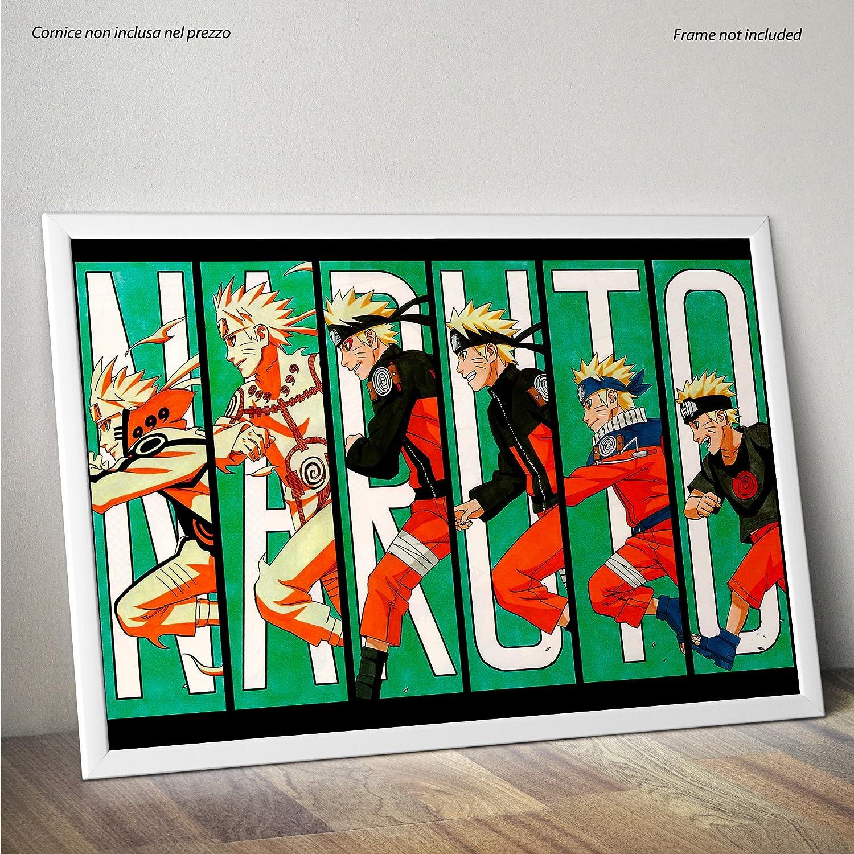 30cmx40cm LaMAGLIERIA Poster Naruto Evolution Formato su Carta Lucida Fotografica
