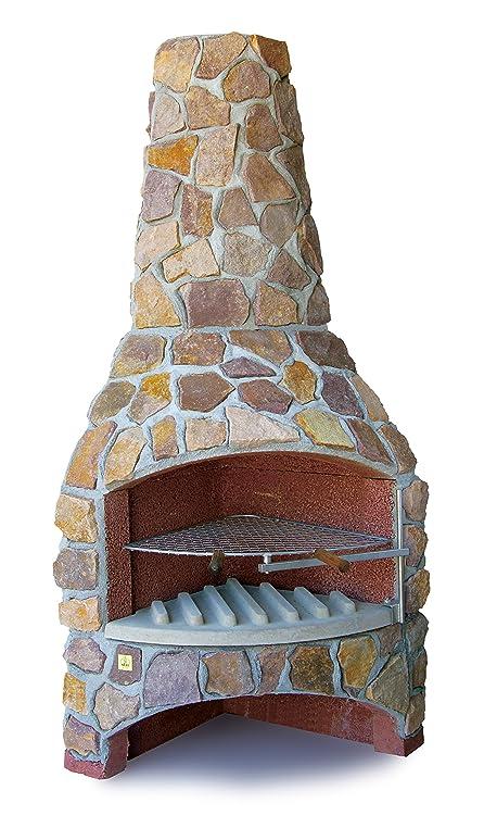 gartenkamin grillkamin steinkamin poel h210 x b78 x t78 cm - Steinkamin