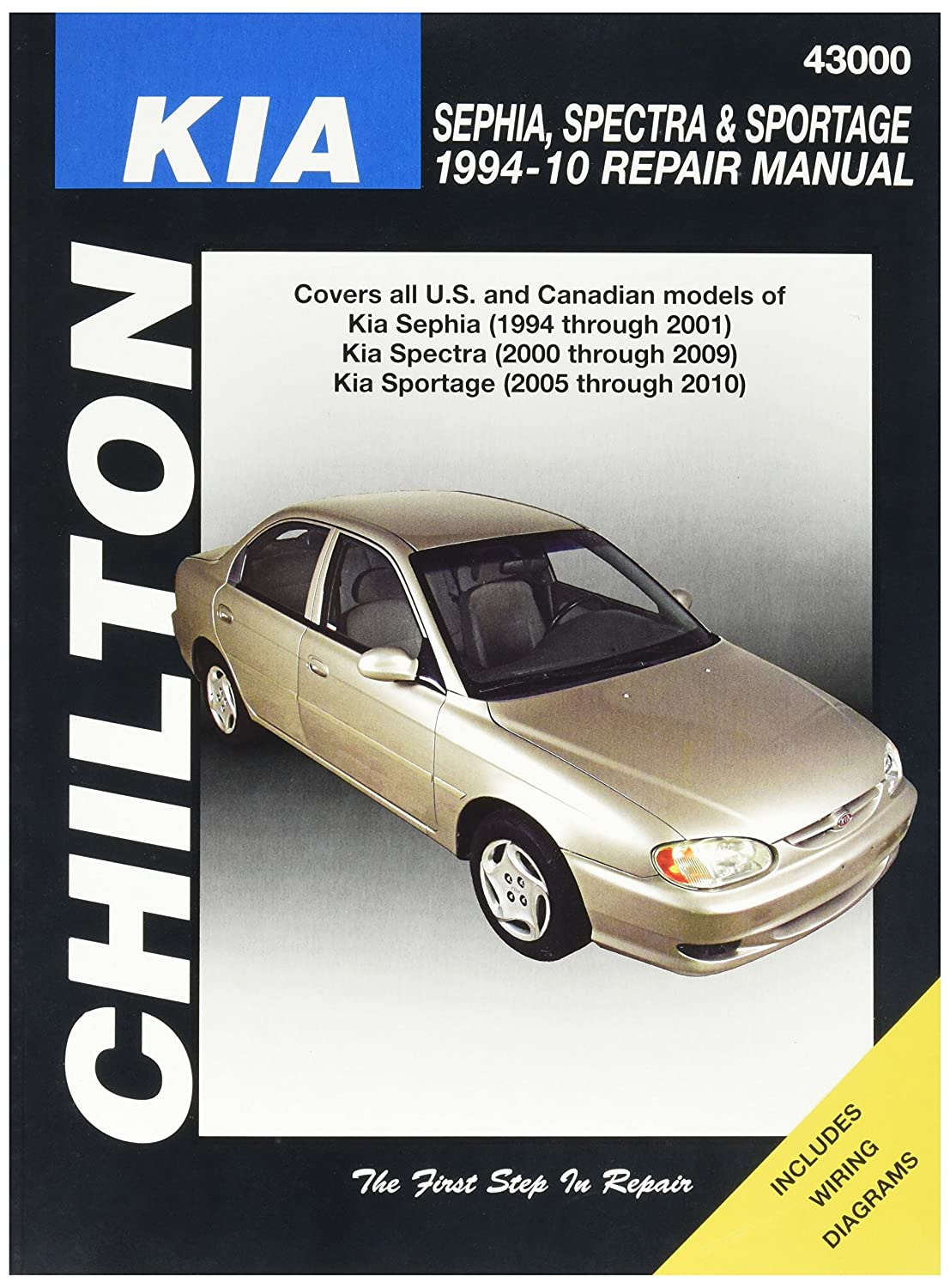 Chilton Kia Repair Manual Automotive 2009 Rio Sedan Engine Diagram
