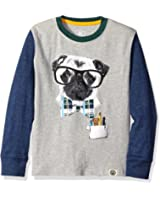 Wes and Willy Boys' Graphic Spectacle Dog Long Sleeve Tee