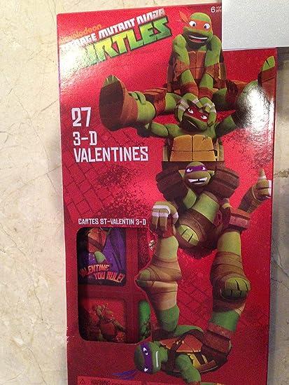 Amazon.com : Nickelodean Mutant Ninja Turtel 3D Valentine ...
