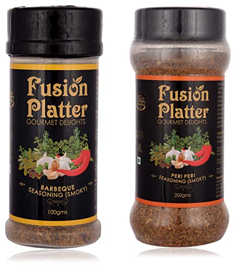 Fusion Platter�Peri Peri Seasoning (Smoky) and Barbeque Seasoning (Smoky) (Combo of 2)