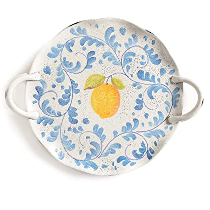 Italian Dinnerware - Handmade in Italy from our Amalfi Collection - Cake Plate  sc 1 st  Amazon.com : italy dinnerware - pezcame.com