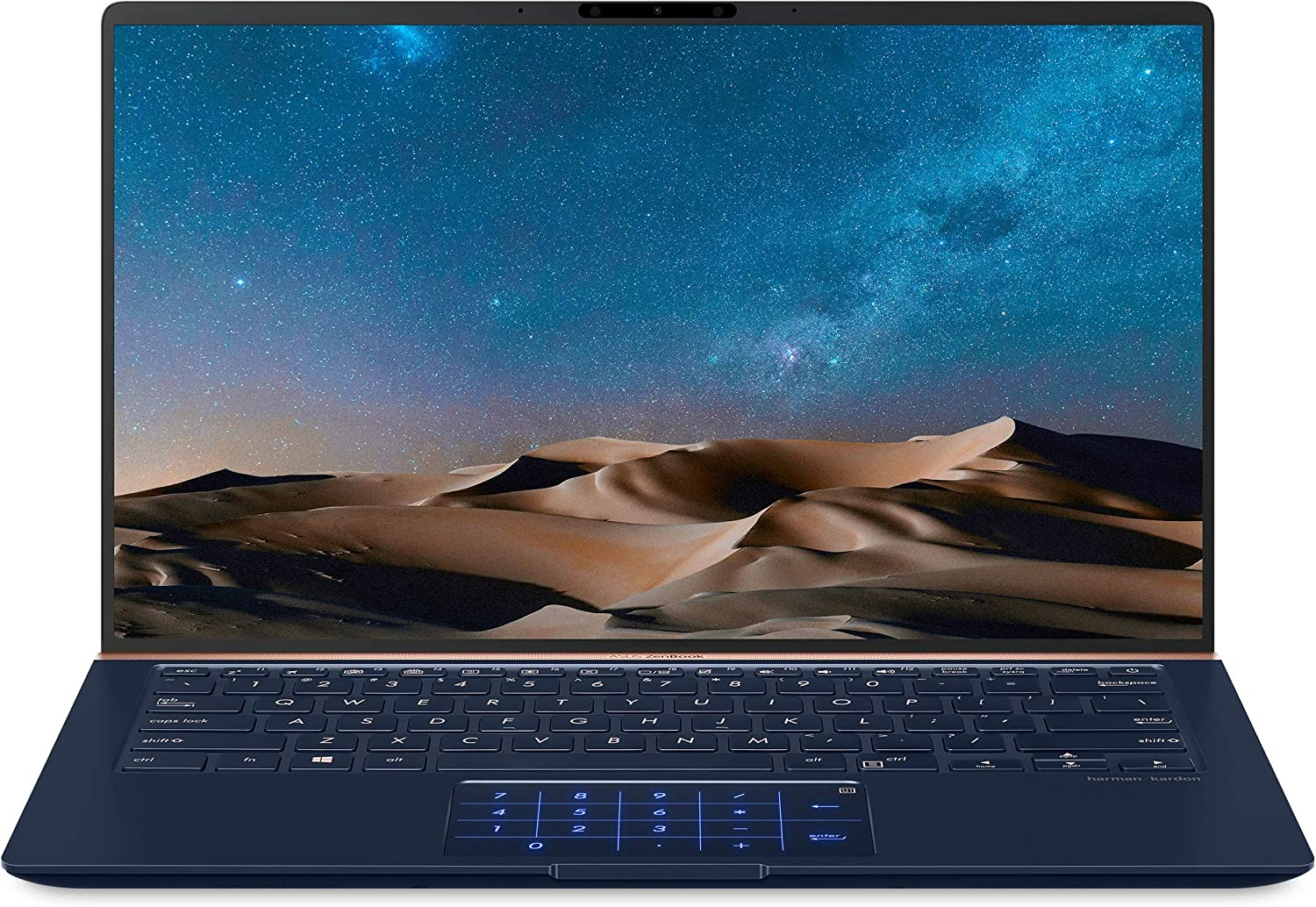"ASUS ZenBook 14 Ultra-Slim Laptop 14"" FHD Nano-Edge Bezel, 8th-Gen Intel Core i7-8565U Processor, 16GB LPDDR3, 512GB PCIe SSD, Backlit KB, Numberpad, Windows 10 - UX433FA-DH74, Royal Blue (Renewed)"