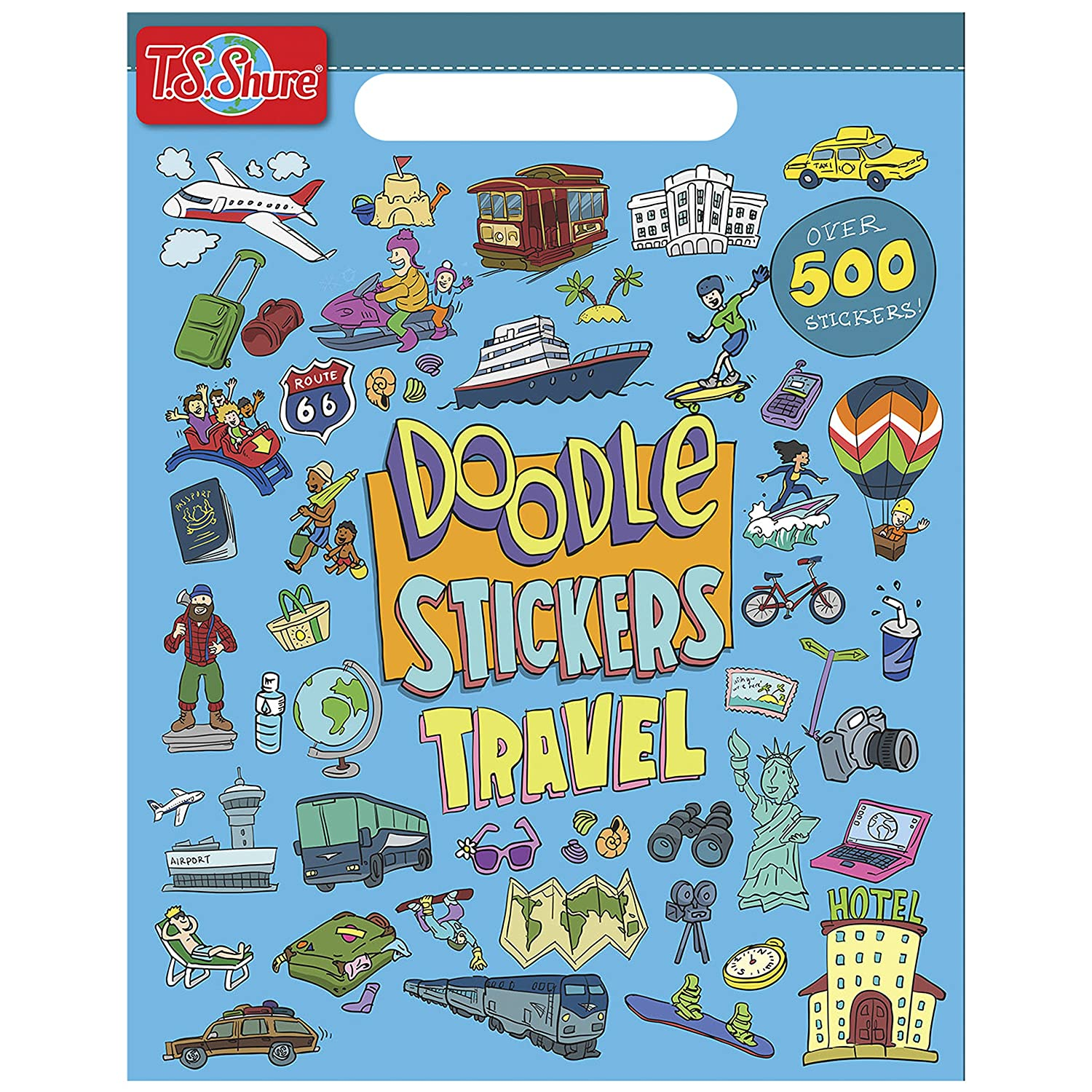 T.S. Shure Doodle Travel Sticker Book