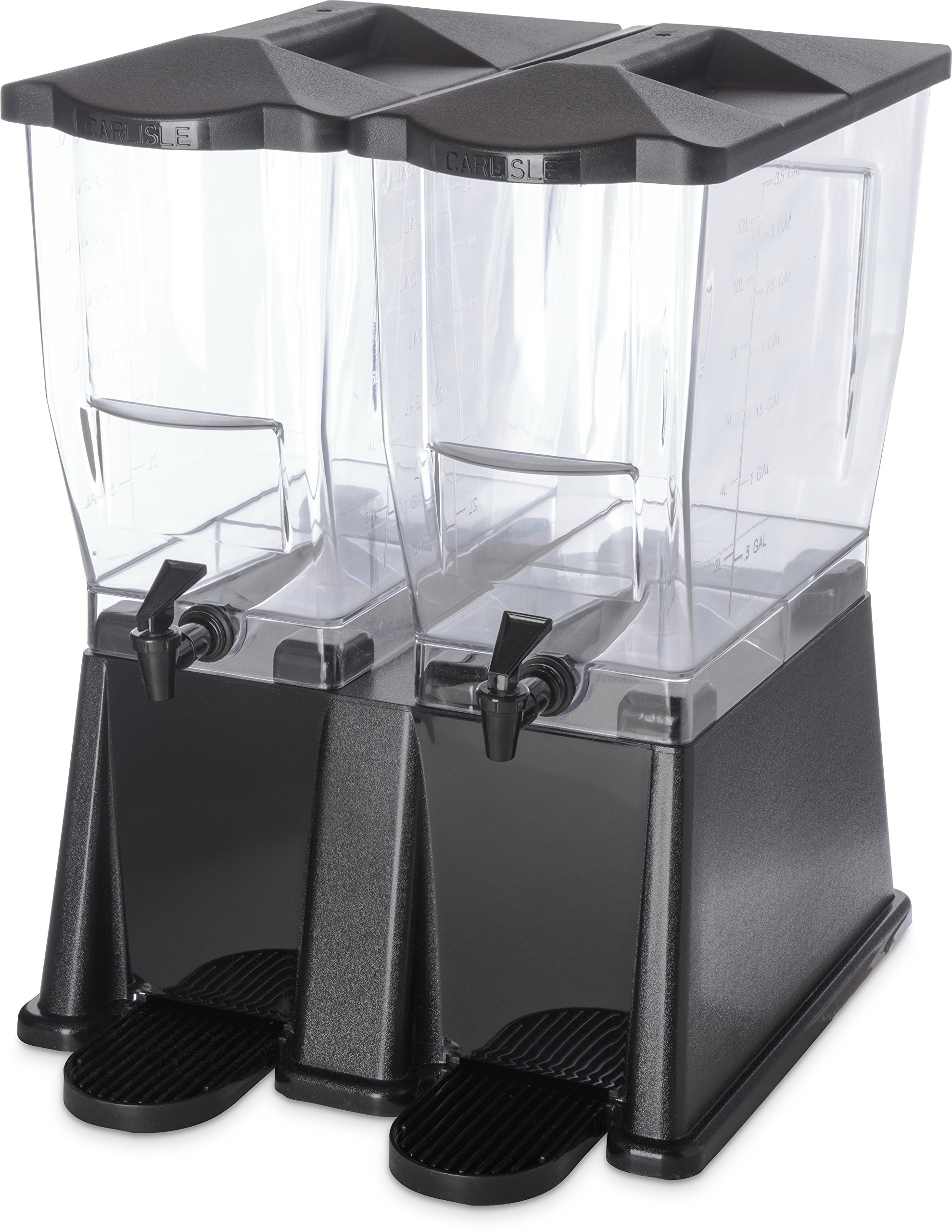 Carlisle 1085303 TrimLine Clear Economy Double Base, 7 gal. Capacity, Black by Carlisle