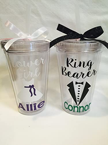 Amazoncom Flower Girl or Ring Bearer Tumblers Flower Girl gifts