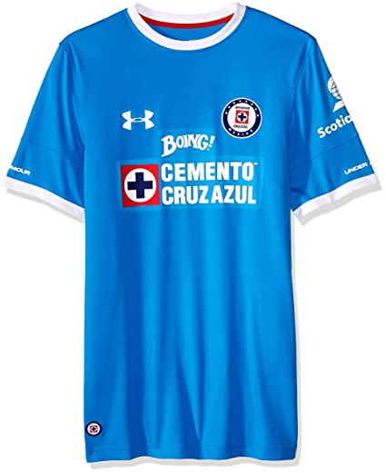 f8a0404b Amazon.com : Under Armour Cruz Azul 16/17 Home Replica Jersey LG Blue Taro  : Clothing
