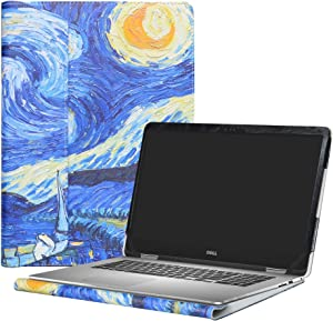 """Alapmk Protective Case Cover For 15.6"""" Dell Inspiron 15 2-in-1 7573 i7573 & Inspiron 15 i7570 i7580 7570 7580 Laptop(Warning:Only fit model 7573 7570),Starry Night"""