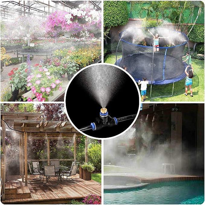 INMUA Kits de nebulización Jardin Terraza Pergola Exterior, Sistema de enfriamiento de Niebla, Sistema de Nebulizador para Greenhouse Garden Patio Gazebo (18M): Amazon.es: Jardín