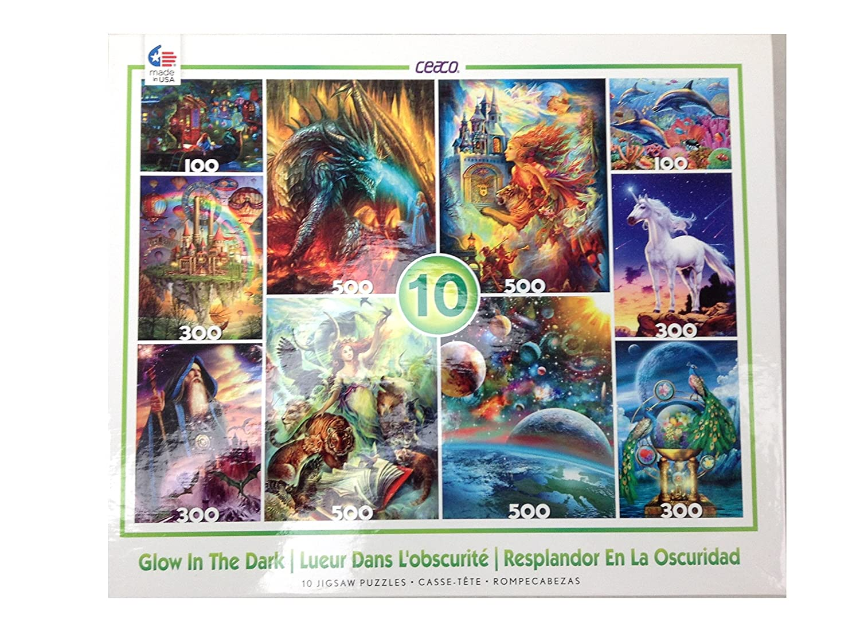 10 GLOW IN THE DARK Jigsaw Puzzles