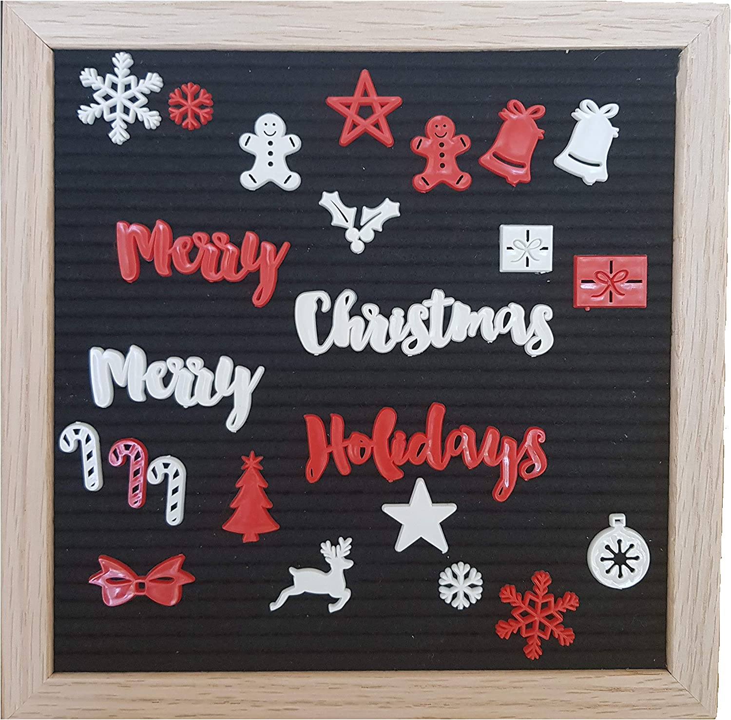Christmas Letters & Signs for Any Felt Letter Board Words and Symbols for Holiday Season - Board Not Included