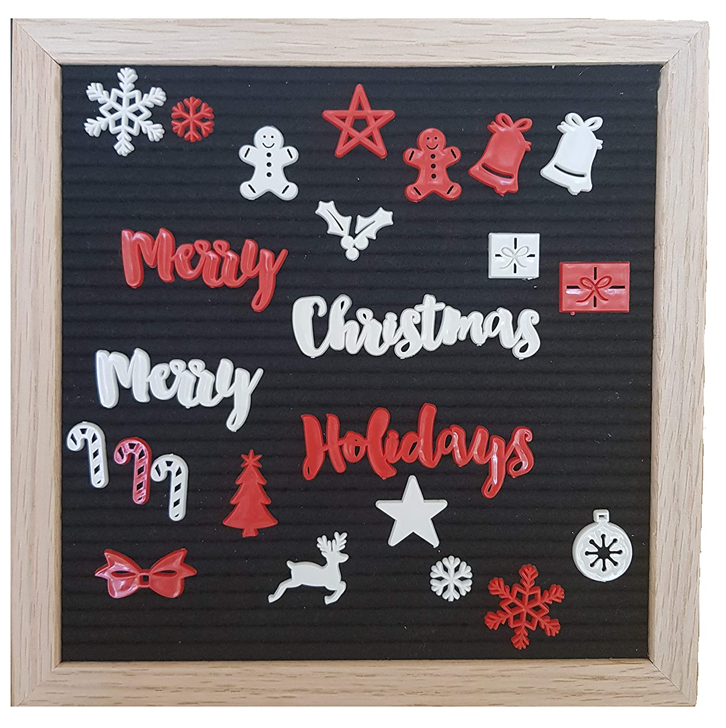 Christmas Letters & Signs For Any Felt Letter Board Words and Symbols for Holiday Season - Board Not Included The Stork & I