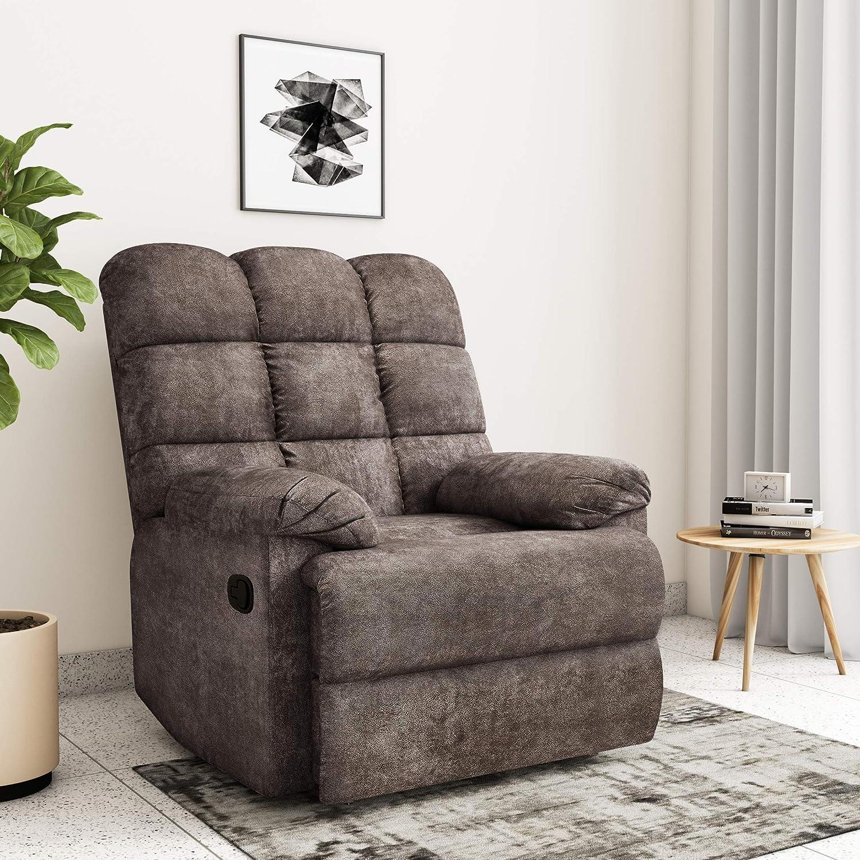 4.Amazon Brand - Solimo Biela Single Seater Fabric Recliner Sofa