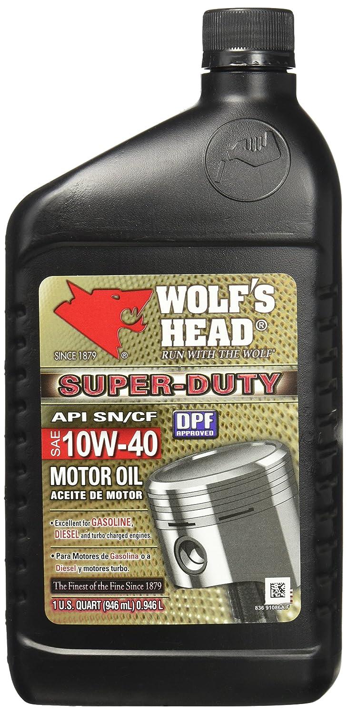 Wolf 's Head 836 – 91086 – 56 ( S Dutyモーターオイル10 W40 12 / 1qt ) B004PL8ZWK